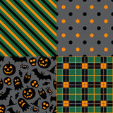 Set of halloween patterns Royalty Free Stock Photos