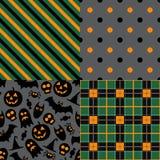 Set of halloween patterns royalty free illustration
