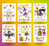 Set of Halloween posters or greeting card Royalty Free Stock Photos