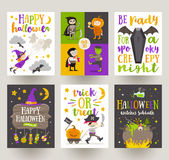Set of Halloween posters or greeting card Stock Photography