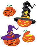 Set of Halloween pumpkin Royalty Free Stock Image