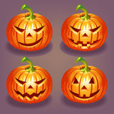 Set of Halloween pumpkin Stock Image