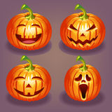 Set of Halloween pumpkin Stock Images