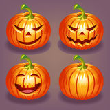 Set of Halloween pumpkin Royalty Free Stock Photos
