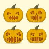 Set of Halloween pumpkin royalty free stock image