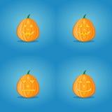 Set of halloween pumpkins Stock Images