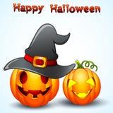 Set of Halloween pumpkins cartoon Royalty Free Stock Images