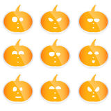 Set of  Halloween pumpkins, Royalty Free Stock Image