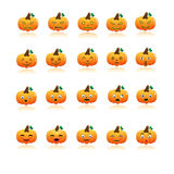 Set of halloween pumpkins  Royalty Free Stock Images