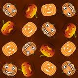 Set of Halloween pumpkins. Texture Halloween pumpkins for your web Stock Images