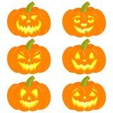 Set of halloween pumpkins. Vector illustration stock illustration