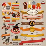 Set of Halloween retro ribbons