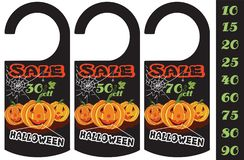 Set of Halloween sale tag, can use for your business or promotion. Vector illustration royalty free illustration