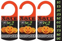 Set of Halloween sale tag, can use for your business or promotion. Vector illustration vector illustration