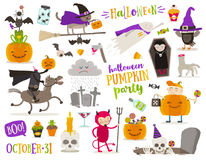 Set of halloween sign, and symbol Royalty Free Stock Image