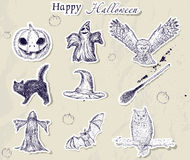 Set of Halloween stickers. Stock Image