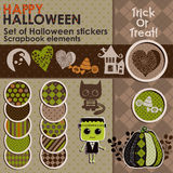 A set of Halloween stickers or icons Royalty Free Stock Photo