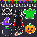 Set of Halloween stickers Royalty Free Stock Photography