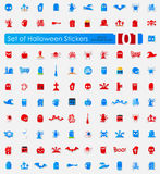 Set of Halloween stickers Stock Photography