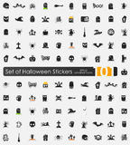 Set of Halloween stickers Royalty Free Stock Image