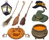 Set halloween symbol Stock Images