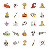 Set of halloween symbols Stock Photos