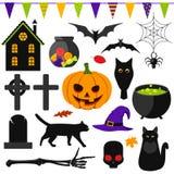 Set of Halloween symbols Royalty Free Stock Photo