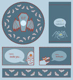 Set of Halloween templates Royalty Free Stock Images