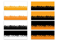 Set of 8 Halloween Theme Facebook Timeline Covers Isolated on White Royalty Free Stock Photo