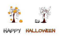 Set - Halloween trees Stock Photos