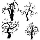 Set of halloween trees  on white background,. Illustration Royalty Free Stock Images