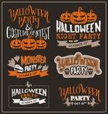 Set of Halloween typographic design Royalty Free Stock Photos