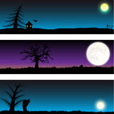 Set of Halloween vector banners Stock Photo