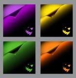 Set Halloween wektorowi tła, kędzioru papier Zdjęcie Royalty Free