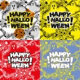 Set Halloween wzór royalty ilustracja