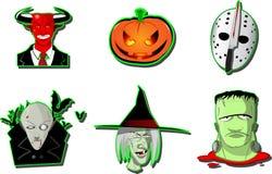 Set Halloweenowe ikony Obrazy Royalty Free