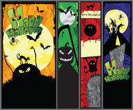 Set of Hallowen Banners Stock Photos
