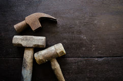 Set of hammer Royalty Free Stock Photos