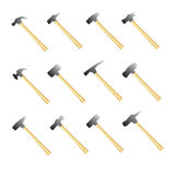 Set of hammers Royalty Free Stock Photos