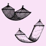set of hammock stock image