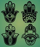 Set of hamsa hands Stock Photos
