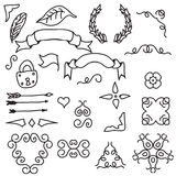 Set of Hand Draw Design Elements. Vector Stock Images