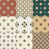 Set of hand draw geometrical seamless Royalty Free Stock Images