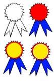 Set of Hand Draw Sketch Badges Stock Photos