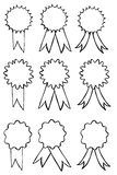 Set of Hand Draw Sketch Badges Royalty Free Stock Image