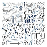 Set of hand drawing  arrows collection on white backgrou. Nd for advertising and business presentations, design elements vector illustration Stock Photo