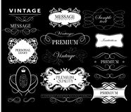 Set of hand-drawing calligraphic floral design Royalty Free Stock Photography