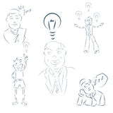 Set of hand drawing cartoon character happy business person eps Stock Photos