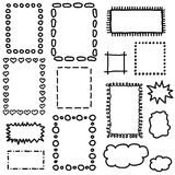 Set of hand drawing frames. Royalty Free Stock Photos