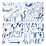 Set of hand drawing isolated arrows collection on white backgrou. Nd for advertising and business presentations, design elements vector illustration Royalty Free Stock Image